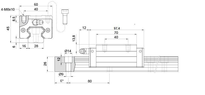 krh30-vl-guia linear 30mm sem aba