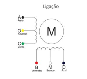 ligação motor de passo nema 17 5017-010
