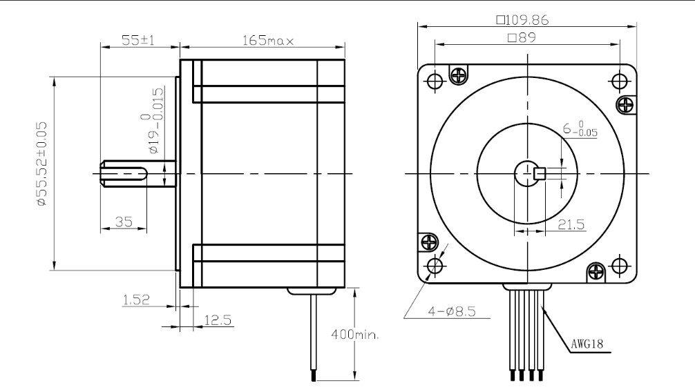 Motor de passo 110HS