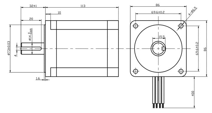 Motor de passo angulo 1.2grau